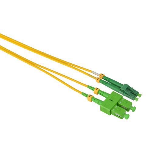 Camplex Duplex APC SC to APC LC Singlemode 9u/125u Fiber Optic Patch Cable (3.3', Yellow)