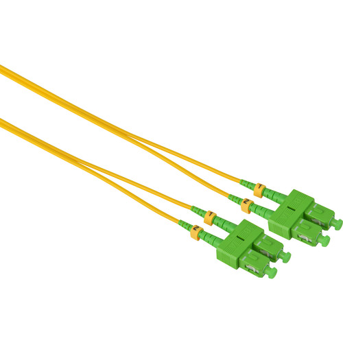 Camplex Duplex APC SC to APC SC Singlemode 9u/125u Fiber Optic Patch Cable (16.4', Yellow)