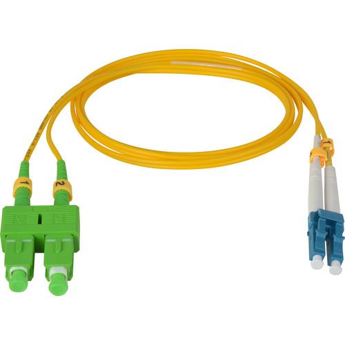 Camplex Duplex APC SC to UPC LC Singlemode 9u/125u Fiber Optic Patch Cable (6.6', Yellow)