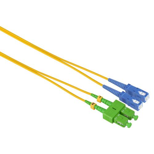 Camplex Duplex APC SC to UPC SC Singlemode 9u/125u Fiber Optic Patch Cable (9.8', Yellow)