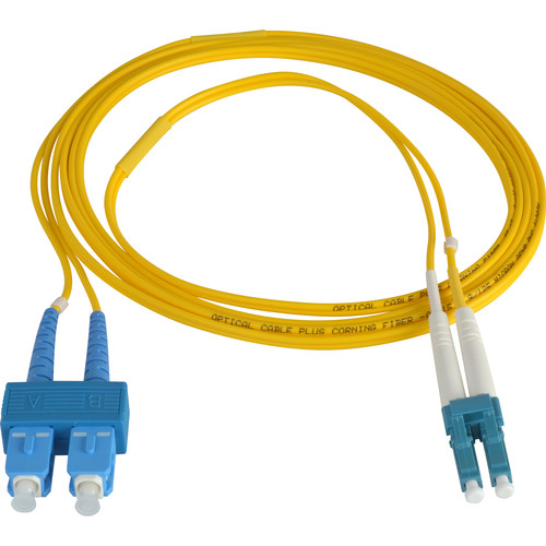 Camplex Duplex LC to Duplex SC Singlemode Fiber Optic Patch Cable (Yellow, 65.6')
