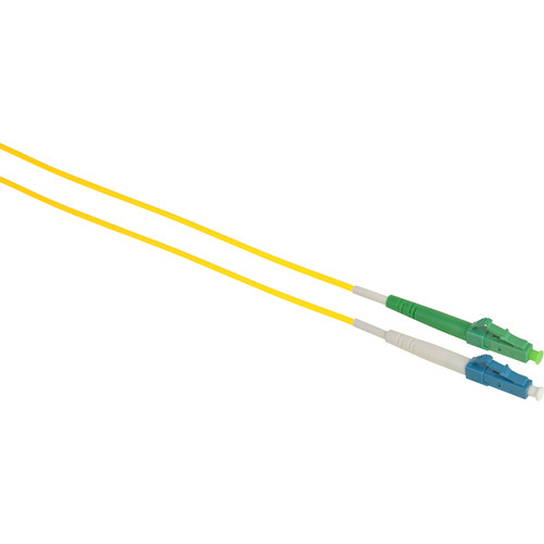 Camplex Simplex APC LC to UPC LC Singlemode 9u/125u Fiber Optic Patch Cable (16.4', Yellow)