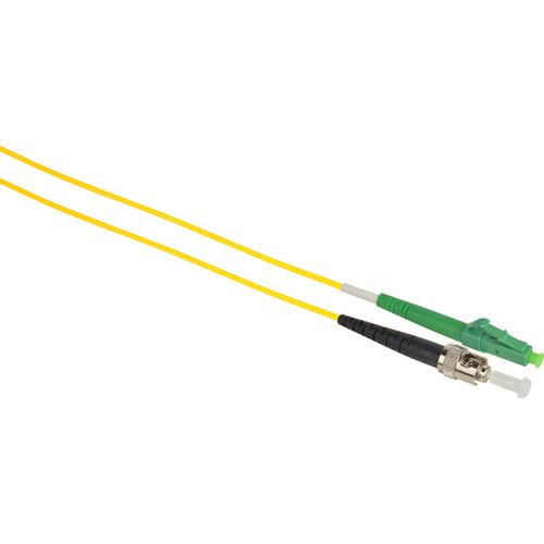 Camplex Simplex APC LC to UPC ST Singlemode 9u/125u Fiber Optic Patch Cable (16.4', Yellow)