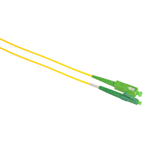 Camplex Simplex APC SC to APC LC Singlemode 9u/125u Fiber Optic Patch Cable (Yellow, 16.4)