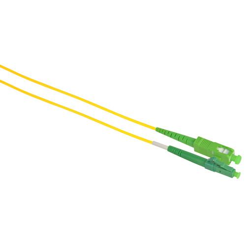Camplex Simplex APC SC to APC LC Singlemode 9u/125u Fiber Optic Patch Cable (Yellow, 16.4)