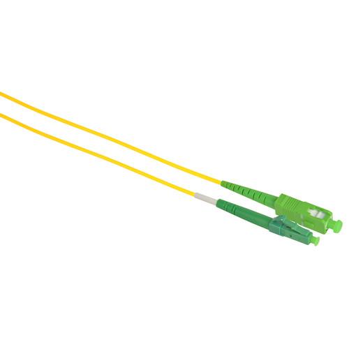 Camplex Simplex APC SC to UPC LC Singlemode 9u/125u Fiber Optic Patch Cable (9.8',Yellow)