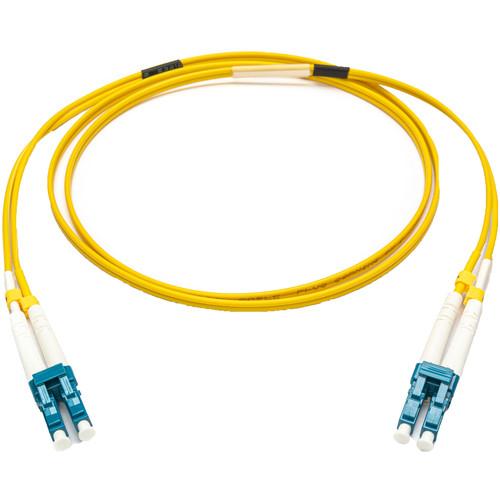 Camplex 9u/125u Singlemode Duplex LC to LC Armored Fiber Optic Patch Cable (16.4'', Yellow)