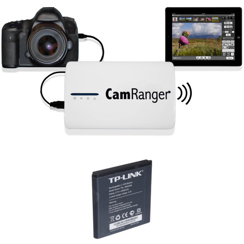 CamRanger Wireless Transmitter Kit with Extra Battery for Select Canon and Nikon DSLRs