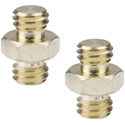 """CAMVATE Double Male Thread Adapter With Hex Nut (3/8""""-16 To 3/8""""-16,2-Pack)"""
