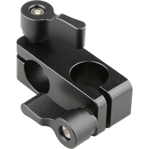 CAMVATE 90 Degree Rod Rig Adapter Clamp for DSLR 15mm Rods Rig System Shoulder Mount (Black Wingnut)