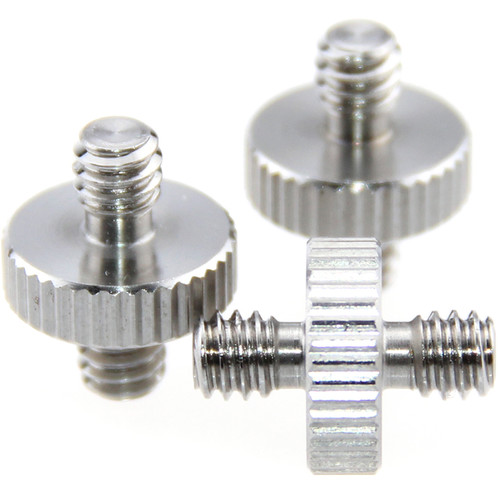 """CAMVATE 1/4""""-20 Male to 1/4""""-20 Male Screw Adapter (3-Pack)"""