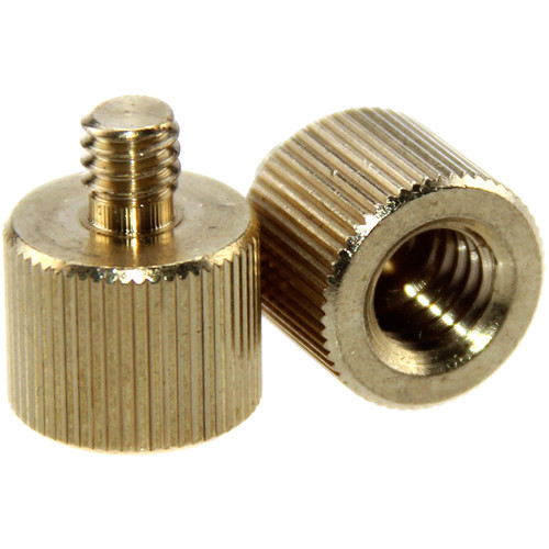"CAMVATE 3/8""-16 Female to 1/4""-20 Male Screw Adapter (2-Pack)"