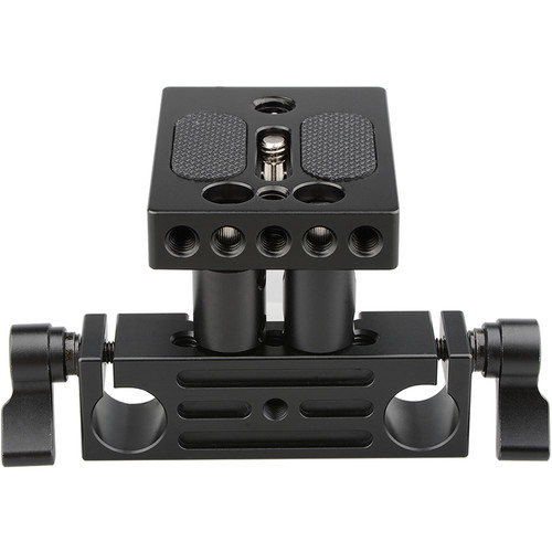 CAMVATE DSLR Baseplate with Height Risers and 15mm Rod Block