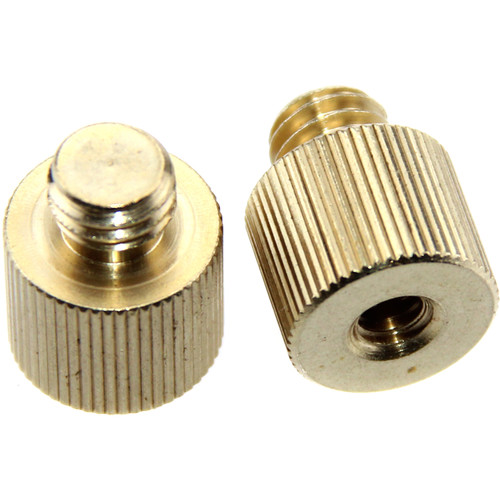 "CAMVATE 1/4""-20 Female To 3/8""-16 Male Screw Adapter (2-Pack)"