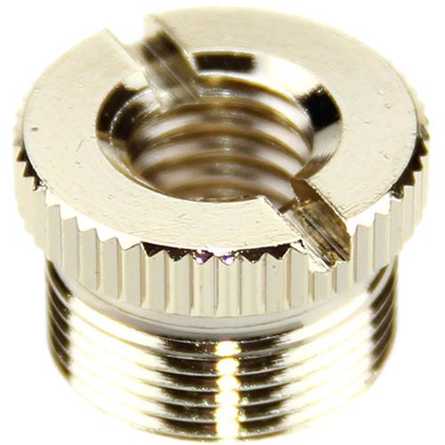 """CAMVATE 3/8""""-16 Female to 5/8""""-27 Male Microphone Screw Adapter (Brass)"""