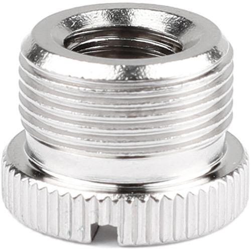 """CAMVATE 3/8""""-16 Female to 5/8""""-27 Male Microphone Screw Adapter (Nickel-Plated Brass)"""