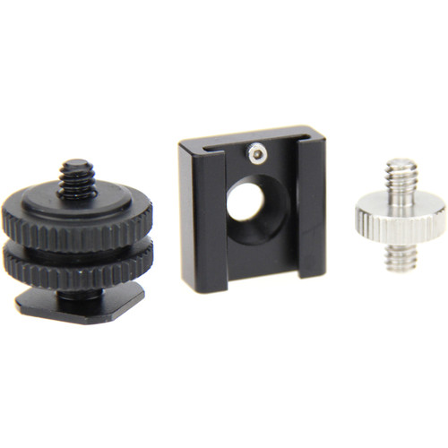 """CAMVATE Shoe Mount And 1/4""""-20 Male To 1/4""""-20 Male Adapter Set"""