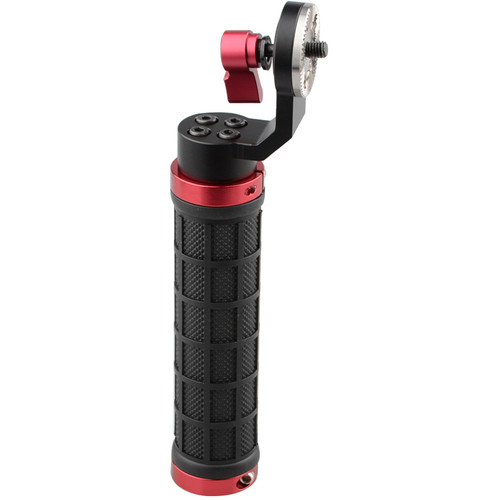 CAMVATE Rubber Handgrip with ARRI-Style Rosette (Red)