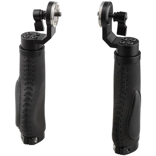 CAMVATE ARRI-Style Leather Rosette Handle Grip (2 Handles) (Black)