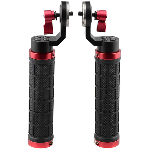 CAMVATE ARRI-Style Rubber Rosette Handle Grip (2-Pack) (Red)
