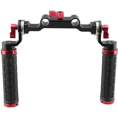 CAMVATE Soft Rubber Grip Shoulder Mount Rig with 15mm Double-Rod Clamp