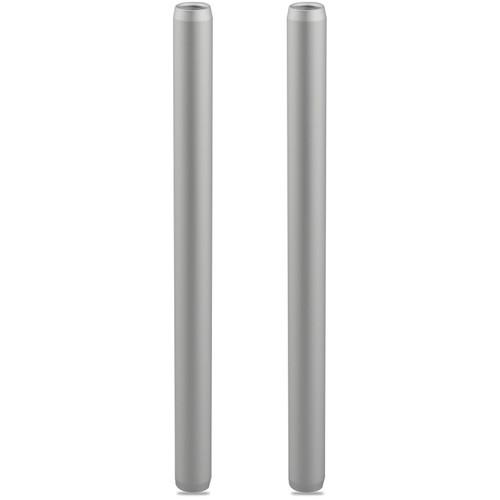 """CAMVATE 15mm Silver Aluminum Rod (7.9"""", 2-Pack)"""