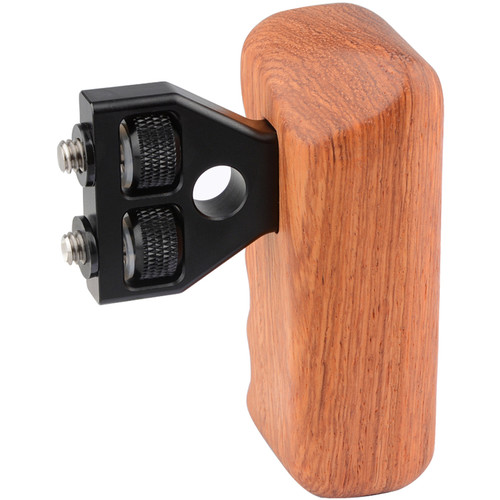 CAMVATE Right Hand Wood Handle Grip with Thumbscrew Connector for Select DV and DSLR Camera Cages (Rosewood)