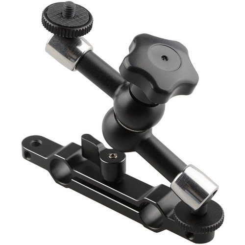 "CAMVATE Articulating Magic Arm with 15mm Rod Railblock (7"", Black Thumbscrew)"