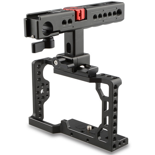 CAMVATE Camera Cage with Top Handle for Sony a6500 (Black)