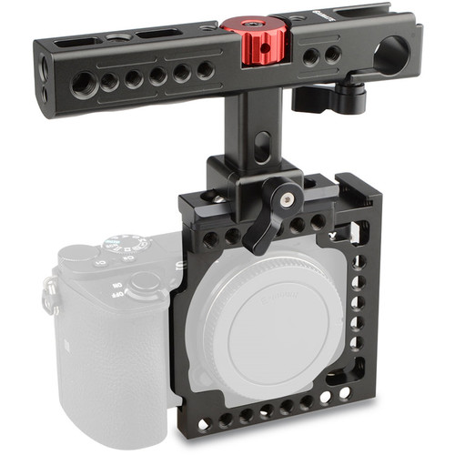 CAMVATE Camera Half Cage with Top Handle for Sony a6500/a6300/a6000 (Black)