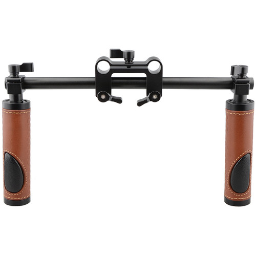 CAMVATE Rod Mount Dual Leather Handgrip Set
