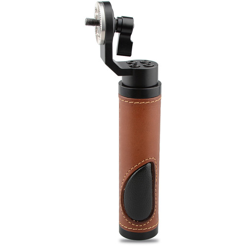 CAMVATE Leather Handgrip with ARRI-Style Rosette (Brown)