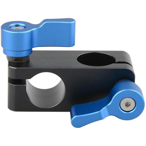 CAMVATE 90 Degree Rod Rig Adapter Clamp for DSLR 15mm Rods Rig System Shoulder Mount (Blue Wingnut)