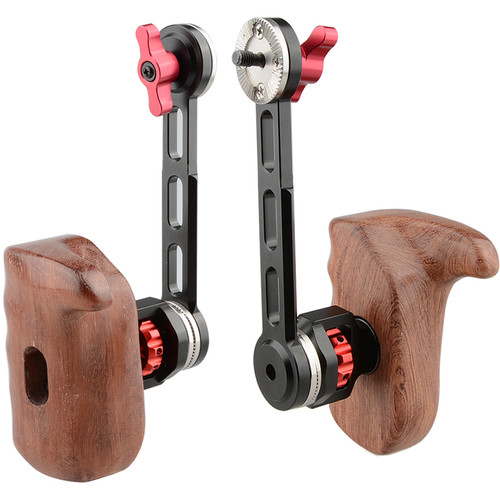 CAMVATE Left & Right Wooden Handgrips with Rosette Extension Arms