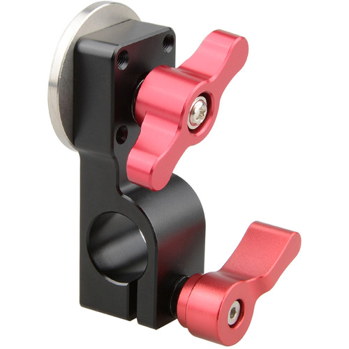 CAMVATE 15mm Rod Clamp with ARRI Rosette Mount (Red Thumbscrew)