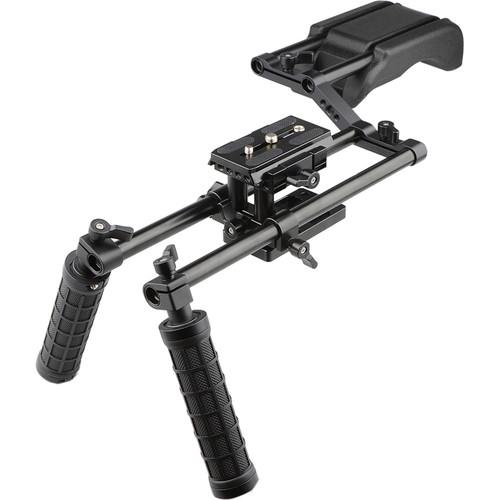 CAMVATE Pro DSLR Offset Shoulder Mount Support Rig Kit with Handgrips