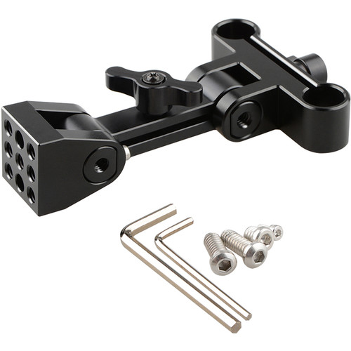 CAMVATE Adjustable Monitor Support with 15mm Rod Block