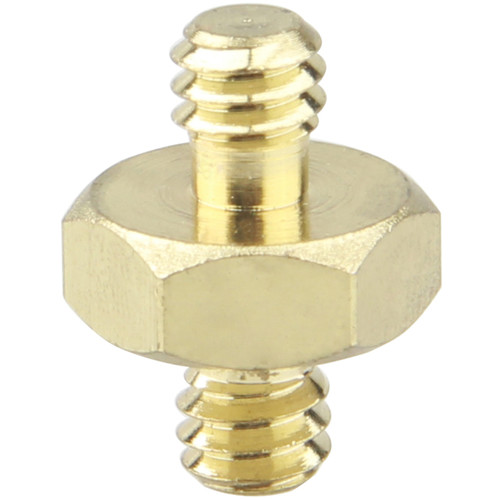 """CAMVATE Double Male Thread Adapter with Hex Nut (1/4""""-20 to 1/4""""-20)"""