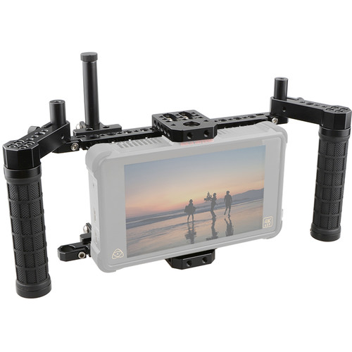 CAMVATE Monitor Cage Kit with Adjustable Rubber Handgrips