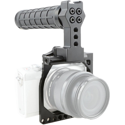 CAMVATE Camera Cage with Quick Release Rubber Top Handle