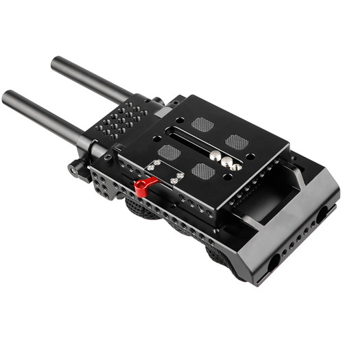 CAMVATE ARRI Dovetail QR Baseplate with 15mm Rods for VCT-U14 Tripod Adapter