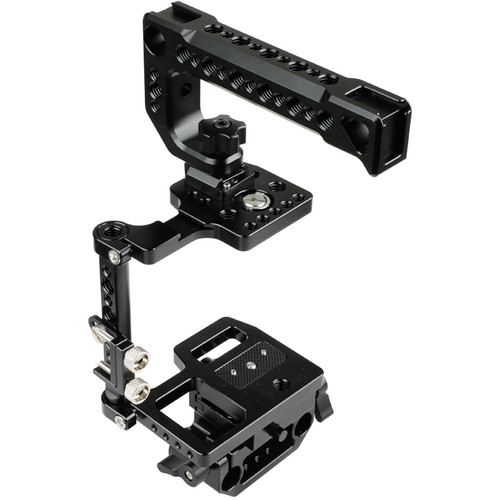 CAMVATE Cage Kit with Top Cheese Handle and ARCA QR Plate for Blackmagic Pocket Cinema Camera 4K