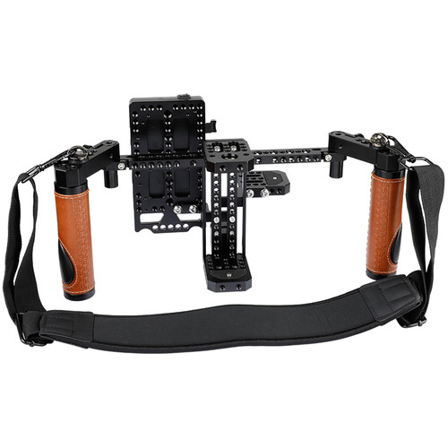 CAMVATE Directors Monitor Cage Kit With Dual Handles And Neck Strap