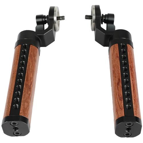 CAMVATE ARRI-Style Wooden M6 Rosette Handgrips (Pair)