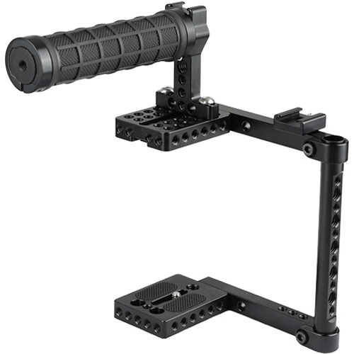 CAMVATE Camera Cage with Rubber Top Handle for Select Cameras