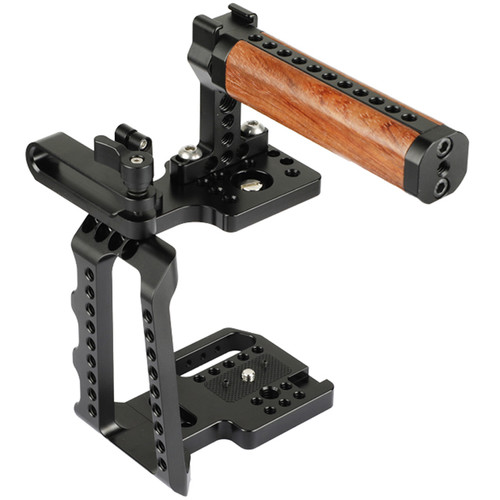 CAMVATE Cage Kit With Wood Top Handle And Mobile Hard Disk T5 Clamp For Bmpcc 4K