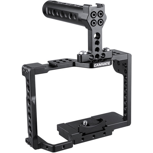 CAMVATE Full Cage with Top Cheese Handle for Select Sony Cameras