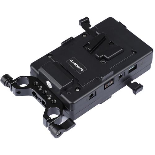 CAMVATE Double-Sided V-Lock Mounting Plate Power Supply Splitter