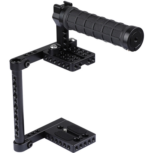 CAMVATE Half Cage with Rubber Top Handle for Select DSLRs