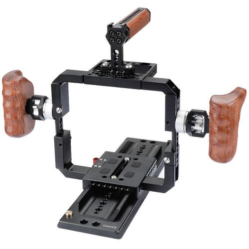 CAMVATE Full-Frame Cage with ARRI Sliding Dovetail Plate, Top Handle & Handgrips